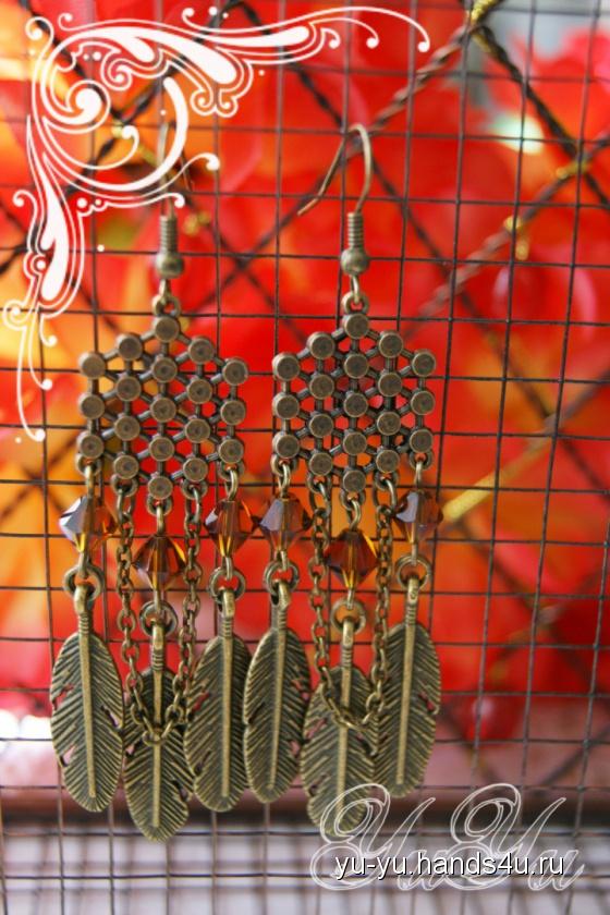 Купить Серьги, Смешанная техника, Серьги, Украшения ручной работы. Мастер Юлия Югай (Yu-Yu) .