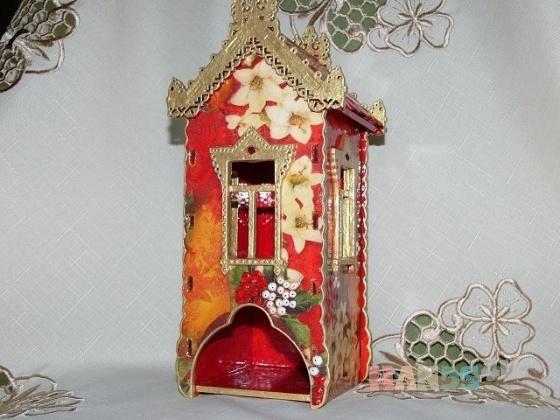 Купить Чайный домик Красный, Кухонная утварь, Кухня, Для дома и интерьера ручной работы. Мастер Инна Лебединская (InnaLe) . чайный домик