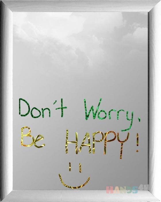 Купить Зеркало (Dont worry be happy 2), Средние, Зеркала, Для дома и интерьера ручной работы. Мастер Владимир Левестам (Levestam) . зеркало
