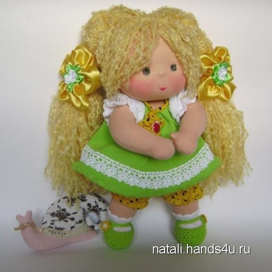 Купить Сестричка в салатовом наряде 32 см, Вальдорфская игрушка, Куклы и игрушки ручной работы. Мастер Наталия Морозова (Natali) . салатовый