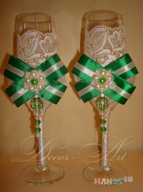 Купить Свадебные бокалы, Свадебные бокалы, Свадебные аксессуары, Свадебный салон ручной работы. Мастер   (Art-Decor) . бокалы