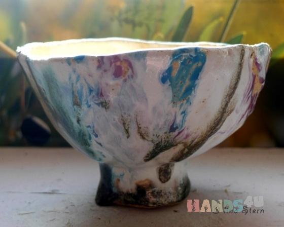 Купить Чаепитие в саду две чашки и подсвечник, Кружки и чашки, Посуда ручной работы. Мастер Лина Штерн (stern) . оригинальная керамика