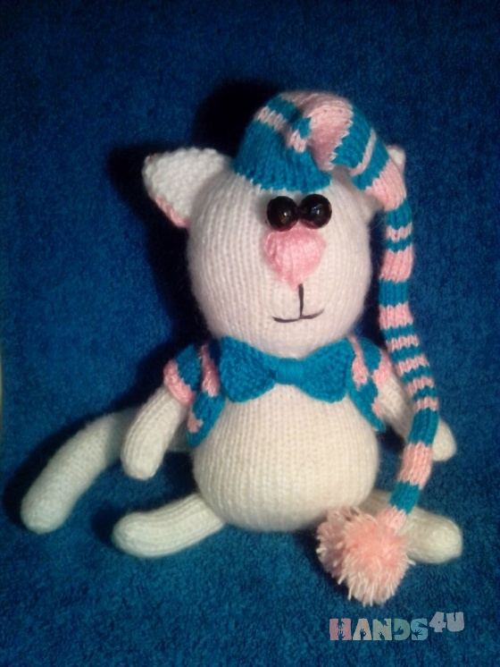 Купить Кот Снежок, Коты, Зверята, Куклы и игрушки ручной работы. Мастер Лана  (Sweetlana) . кот