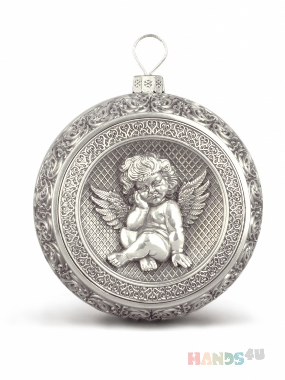 Купить Серебряный рождественский шар, Сувениры и подарки ручной работы. Мастер Ко Хо (hoko) .