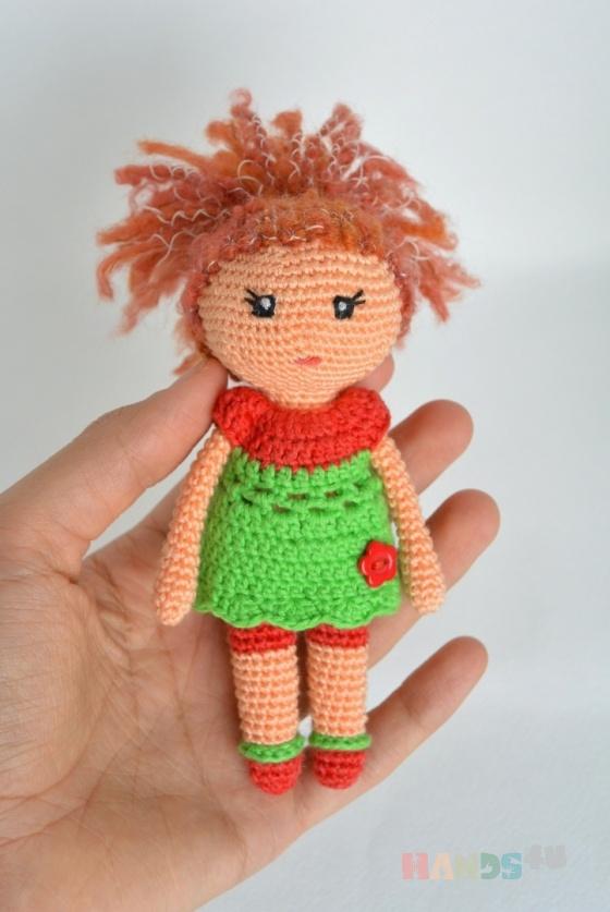 Купить Игрушка вязаная куколка Олеся, Вязаные, Человечки, Куклы и игрушки ручной работы. Мастер Алёна Габерлинг (Zzabava) .