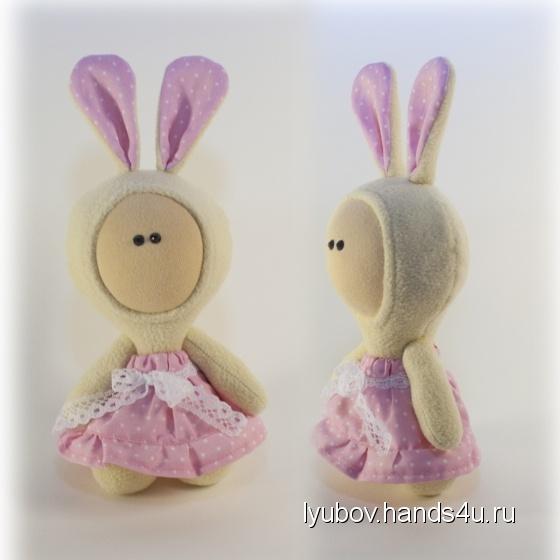 Купить Зайка малышка, Зайцы, Зверята, Куклы и игрушки ручной работы. Мастер Любовь Свечина (Lyubov) . зайка