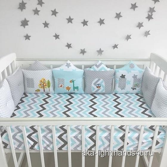 Купить постельный комплект, Для новорожденных, Работы для детей ручной работы. Мастер Екатерина Суховерхова (aka-light) . наполнитель холофайбер