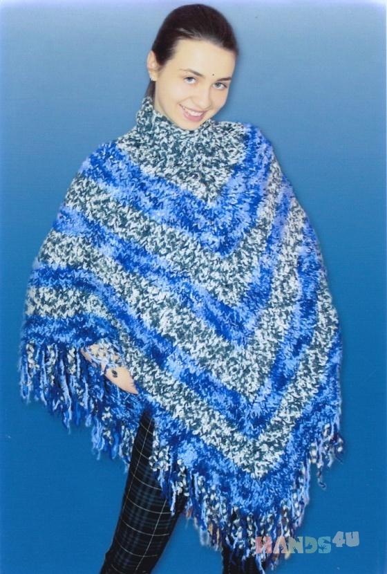Купить вязаное пончо, Пончо, Одежда ручной работы. Мастер Маргарита  (Margarita) . вязание на заказ