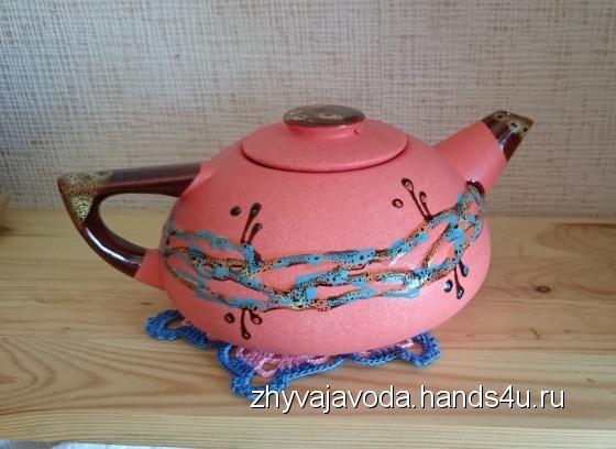 Купить Чайник керамика 100 мл, Чайники, кофейники, Посуда ручной работы. Мастер Анжела Кулиш (zhyvajavoda) . кухня