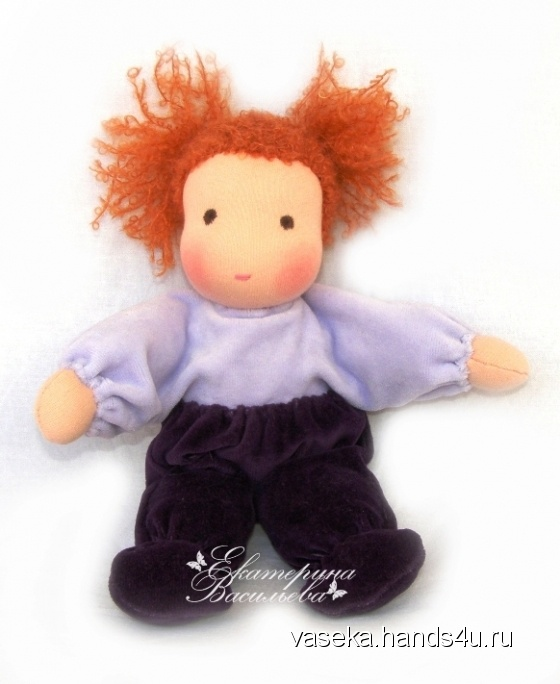 Купить Вальдорфская куколка Кнопочка, Вальдорфская игрушка, Куклы и игрушки ручной работы. Мастер Екатерина Васильева (vaseka) .