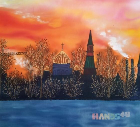Купить Весенний закат, Пейзаж, Картины и панно ручной работы. Мастер Маргарита М (tangomagnol) .