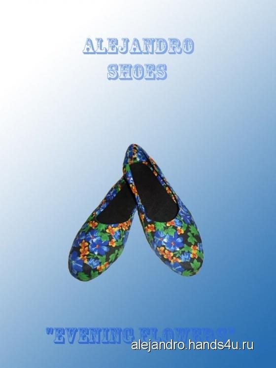 Купить Evening flowers, Летняя обувь, Обувь ручной работы. Мастер Александр Попов (Alejandro) . балетки