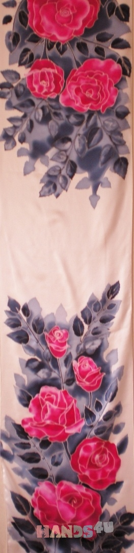 Купить Алые розы, Женские, Шарфы, шарфики и снуды, Аксессуары ручной работы. Мастер Надежда Ненахова (NNad) . батик