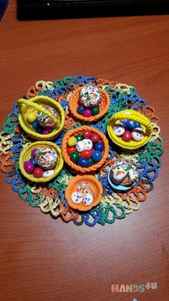 Купить Корзинка с пасхальными яйцами, Ручной работы, Аксессуары, Куклы и игрушки ручной работы. Мастер Марина Крамар (Greta) . корзинка с пасхальными яйцами