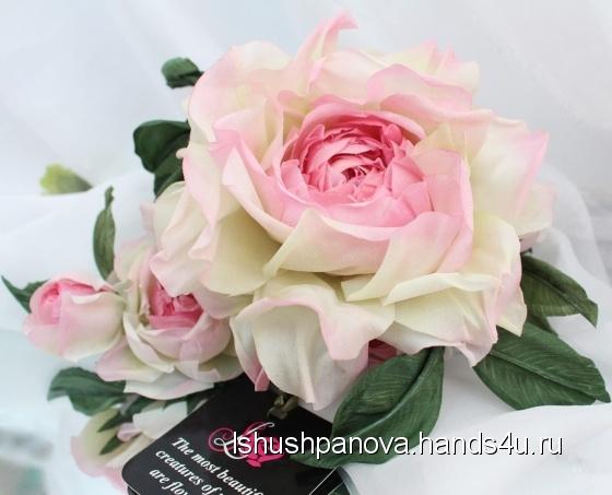 Купить Брошь роза Королева Роз Цветы из ткани, Текстильные, Броши, Украшения ручной работы. Мастер Лариса Шушпанова (LShushpanova) . авторская брошь купить