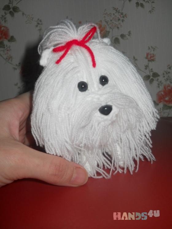 Купить мини-мальтезе, Собаки, Зверята, Куклы и игрушки ручной работы. Мастер Тамара Молчанова (tamriko79) . символ 2018 года