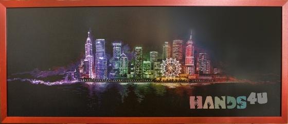 Купить Ночной город, Картины и панно ручной работы. Мастер   (marina598) . вышитая картина