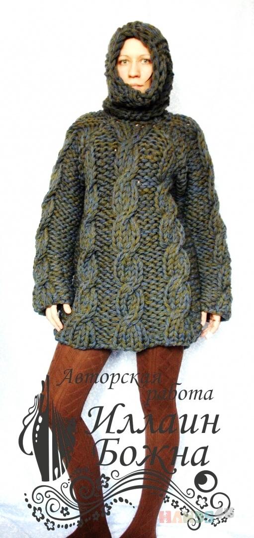 Купить Свитер крупной вязки, Свитера, Кофты и свитера, Одежда ручной работы. Мастер Иллаин Божна (Illain) .