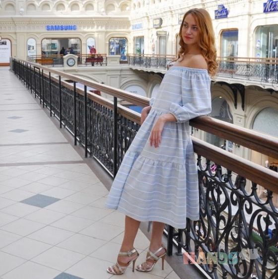 Купить Платье с открытыми плечами , Шитые, Повседневные, Платья, Одежда ручной работы. Мастер Tatiana Ross (astra6086607) . авторское платье