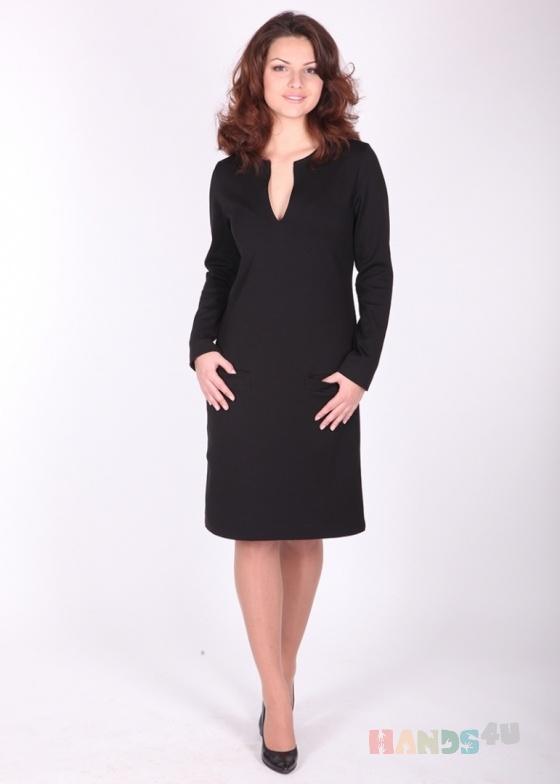 Купить Платье с разрезом на горловине, Шитые, Повседневные, Платья, Одежда ручной работы. Мастер Ольга  (jeffa) . для женщины