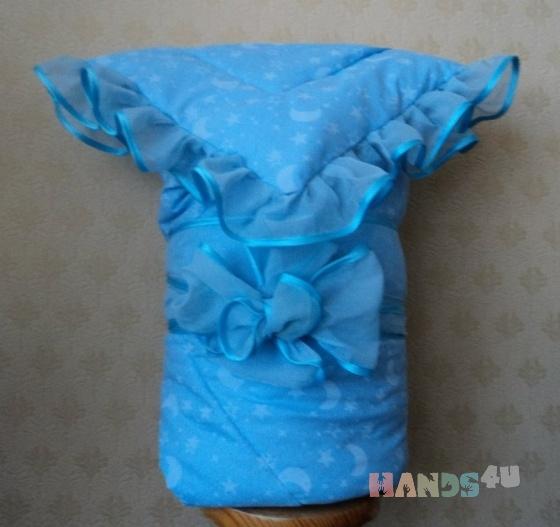 Купить одеяло на выписку, Конверты, Для новорожденных, Работы для детей ручной работы. Мастер наталья роот (angelochek) . конверт