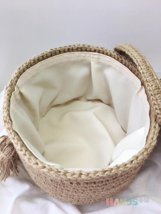 Купить Корзина из джута с крышкой, Корзины, коробы, Для дома и интерьера ручной работы. Мастер Наталия Ефросинина (EfroNatali) .