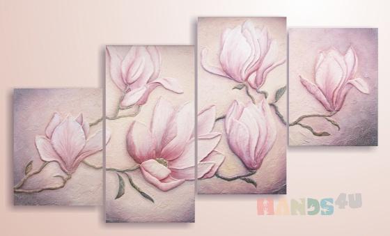 Купить Фреска Нежные магнолии, Картины цветов, Картины и панно ручной работы. Мастер Анна Григорьева (Annadream) .