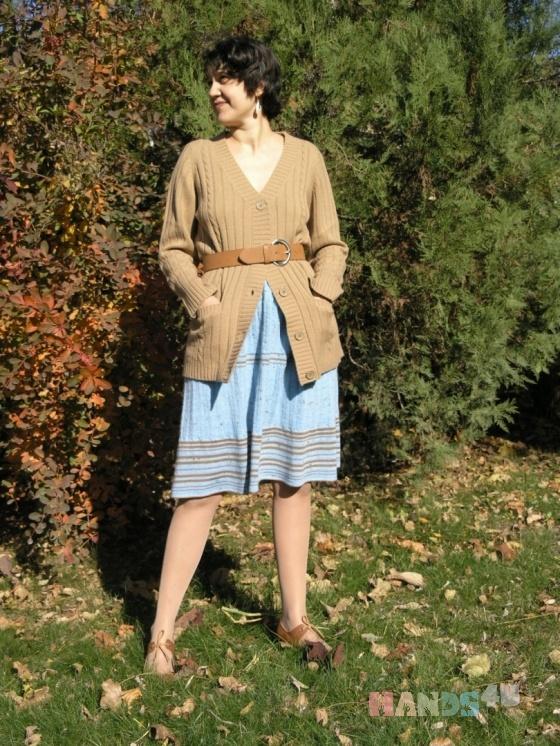 Купить Юбка Голубые косички, Вязаные, Юбки, Одежда ручной работы. Мастер Татьяна Белкина (Povyazyshka) . голубая юбка