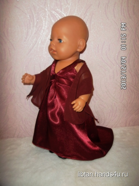 Купить Вечернее платье, Одежда для кукол, Куклы и игрушки ручной работы. Мастер Татьяна  (libtan) . вечернее платье