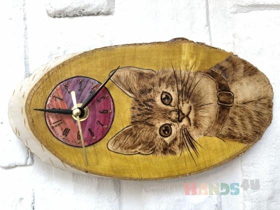 Купить Часы кот, Настенные, Часы для дома, Для дома и интерьера ручной работы. Мастер Ю С (Ju-lisa) . авторские часы