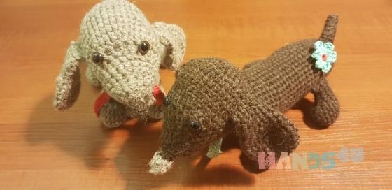 Купить Собачки ручной работы, Собаки, Зверята, Куклы и игрушки ручной работы. Мастер Екатерина Бетина (betkat) .