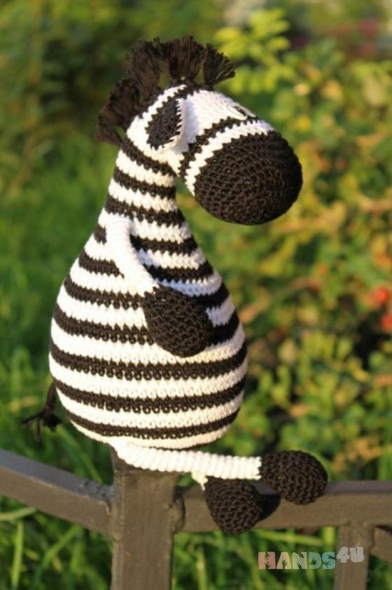 Купить Зебра, Другие животные, Зверята, Куклы и игрушки ручной работы. Мастер Елена  (Lisa-Alisa) . вязание крючком