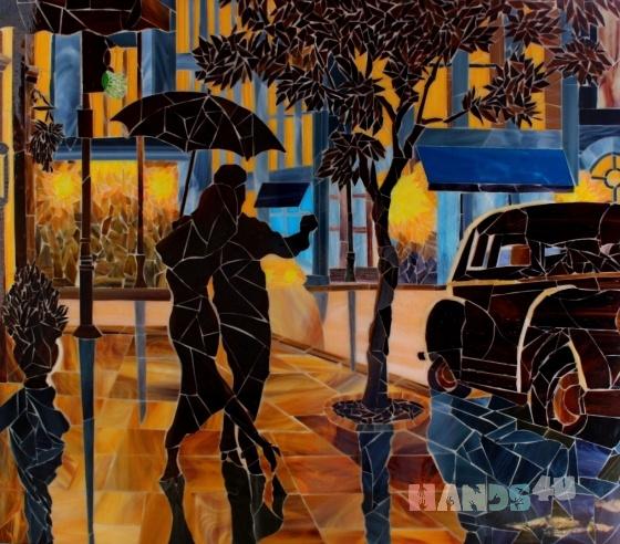 Купить Картина из мозаики - танго, Люди, Картины и панно ручной работы. Мастер Picture Mosaic (mosaic-art) . мозаика