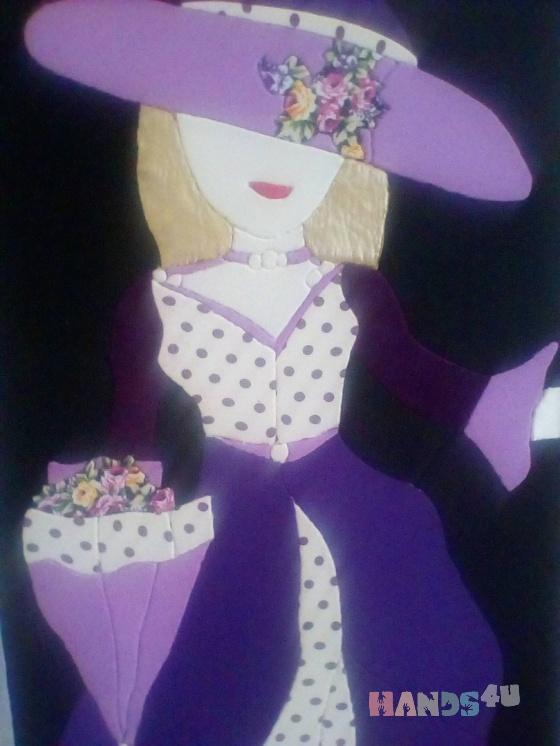 Купить Девушка в шляпе, Для дома и интерьера ручной работы. Мастер Фаворит Gareeva (Gulnaz2012) .