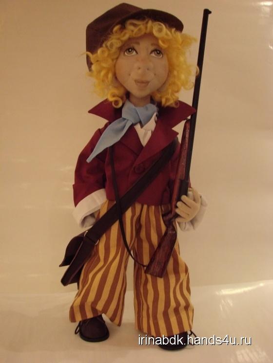 Купить Гаврош, Текстильные, Коллекционные куклы, Куклы и игрушки ручной работы. Мастер Ирина Бадюкова (Irinabdk) . интерьерная кукла