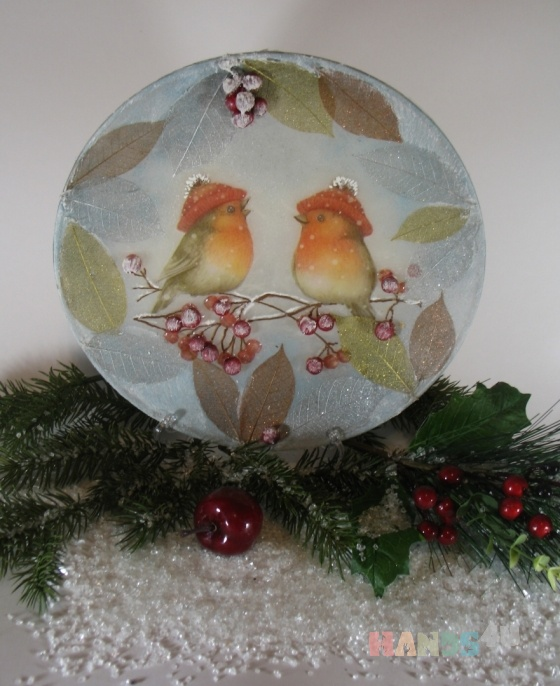 Купить Декоративная тарелка Встреча в зимнем лесу, Новогодний интерьер, Новый год, Подарки к праздникам ручной работы. Мастер Оксана Минеева (oksana) . декоративная тарелка