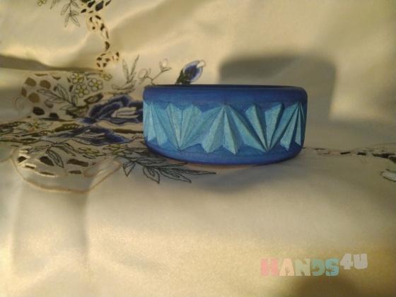 Купить Браслет из дерева Королевский синий, Деревянные, Браслеты, Украшения ручной работы. Мастер Елена Морозова (Alenaaleks) . браслет