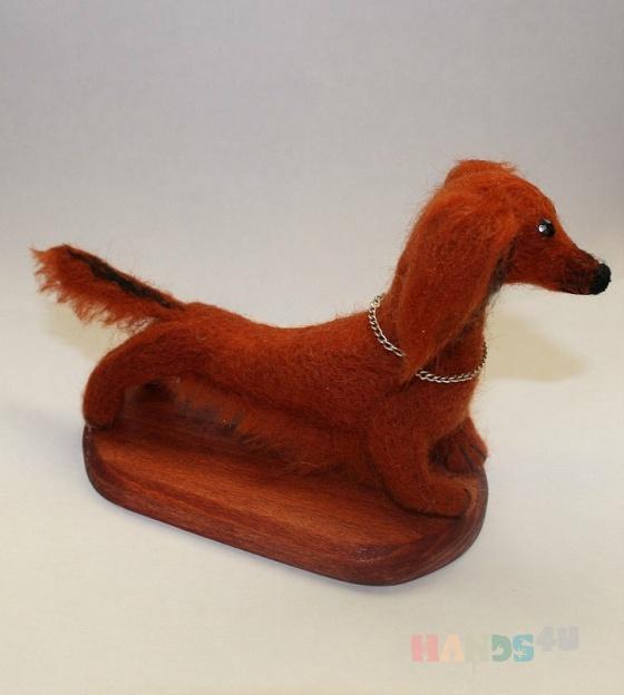 Купить такса на подставке, Собаки, Зверята, Куклы и игрушки ручной работы. Мастер Светлана Петрова (Svetlana207) .