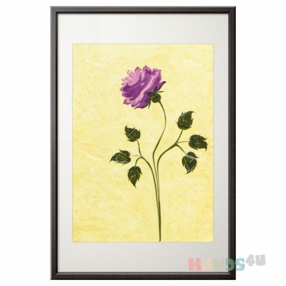 Купить Роза Картина эбру, Картины цветов, Картины и панно ручной работы. Мастер Юля Лисина (integraart) .