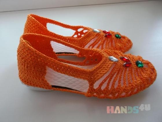 Купить Босоножки вязаные, Летняя обувь, Обувь ручной работы. Мастер Надежда Зыбина (89293221436) . ручная вязка