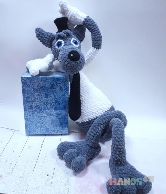 Купить волк вязаный, Другие животные, Зверята, Куклы и игрушки ручной работы. Мастер Светлана Тирских (svetik01) . 100 пр мерсеризированный хлопок