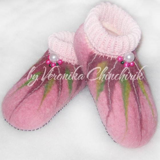 Купить Валяные детские тапочки, Домашние тапочки, Обувь ручной работы. Мастер Вероника Чинчирик (ChinchirikVS) . детские тапки