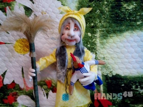 Купить интерьерная кукла бабка Ёжка, Русские сказки, Сказочные персонажи, Куклы и игрушки ручной работы. Мастер Надежда Юзжалина (yniya) .
