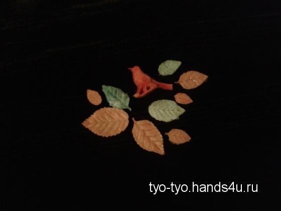 Купить Одноразовое крем-мыло Композиция Зимняя птица в листьях, Фруктовое, Мыло, Косметика ручной работы. Мастер Екатерина  (tyo-tyo) .