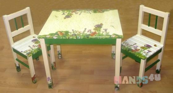 Купить комплект детской мебели МЫШАТА В ПОЛЕ, Детская мебель, Детская, Для дома и интерьера ручной работы. Мастер Андрей Григ (AndreyGrig) . детская мебель