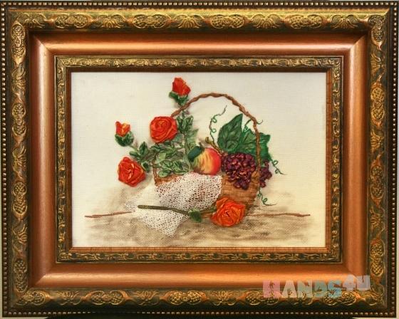 Купить Натюрморт с розами, Картины и панно ручной работы. Мастер   (marina598) . интерьерная картина