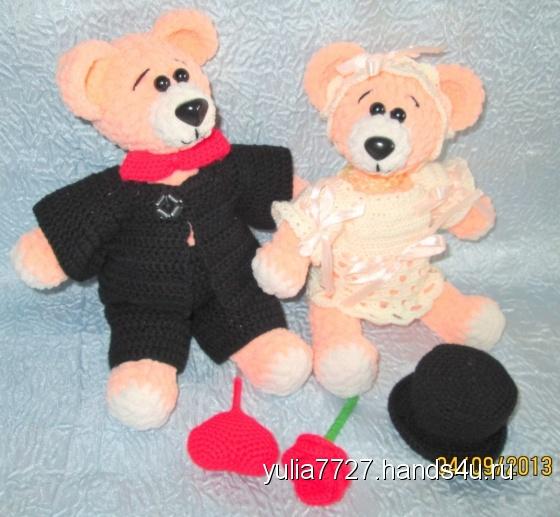Купить Влюблённая парочка Мишек, Мишки, Зверята, Куклы и игрушки ручной работы. Мастер Юлия Кораблёва (Yulia7727) .