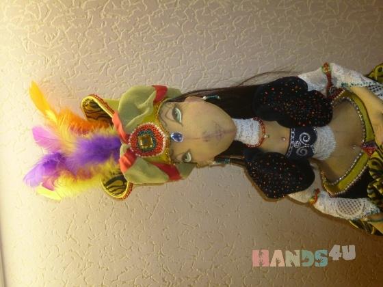 Купить Шамаханская царица, Текстильные, Коллекционные куклы, Куклы и игрушки ручной работы. Мастер Елена Горячева (Goryacheva) . интерьерная кукла