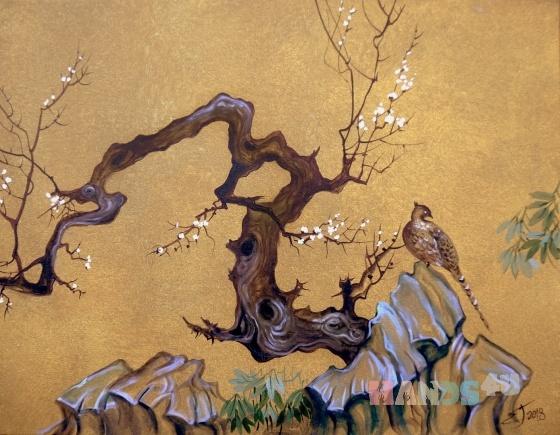 Купить Японизмы, Пейзаж, Картины и панно ручной работы. Мастер Елена Гагарина (gagarinaart) . картина пейзаж