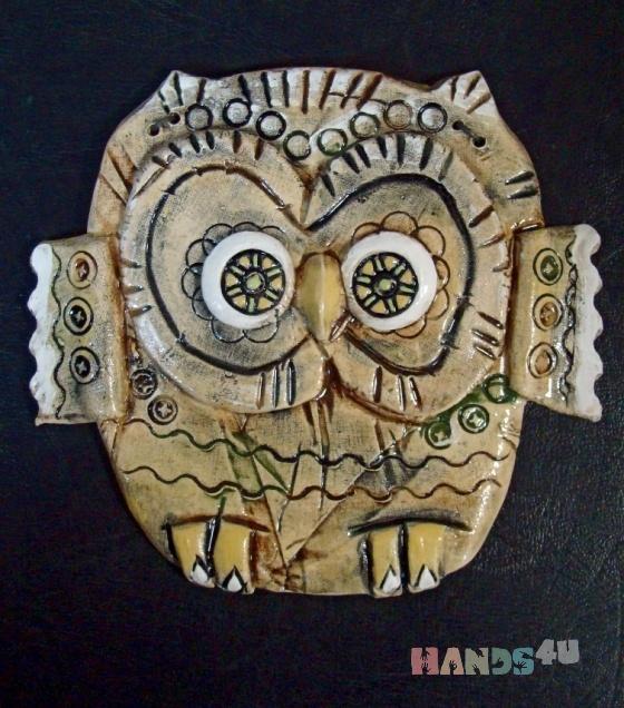 Купить Сова, Животные, Картины и панно ручной работы. Мастер Руслан Сабиров (ruans) . авторская керамика
